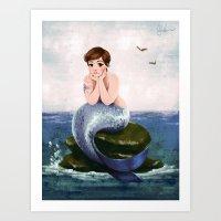 Urban Mermaid - Lena Dunham Art Print