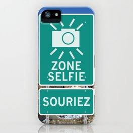 Zone Selfie - Souriez iPhone Case