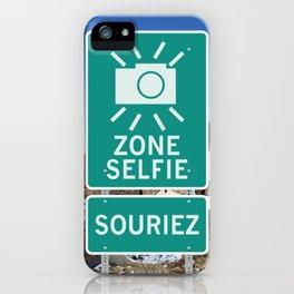Zone Selfie - Souriez iPhone Case