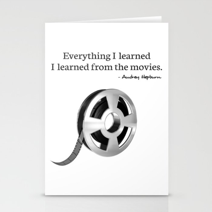Everything I learned I learned from the movies Stationery Cards