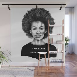 I Am Black Every Month Wall Mural