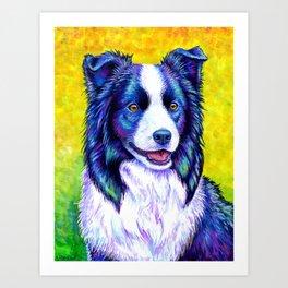 Watchful Eye -  Border Collie Dog Art Print