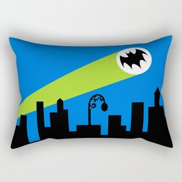 1966 Bat TV Show End Credits Art Rectangular Pillow