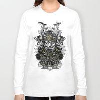 samurai Long Sleeve T-shirts featuring Samurai by Brewer Arts