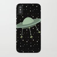 ufo iPhone & iPod Cases featuring UFO by Mr & Mrs Quirynen
