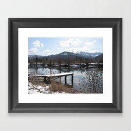 Quiet reflection Framed Art Print