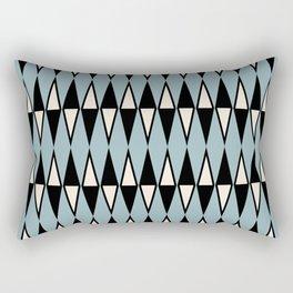 Mid Century Modern Diamond Pattern Black and Blue 233 Rectangular Pillow