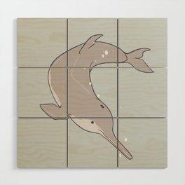 Baiji Dolphin Wood Wall Art