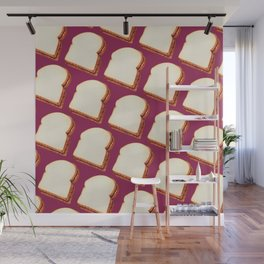 Peanut Butter & Jelly Sandwich Pattern Wall Mural