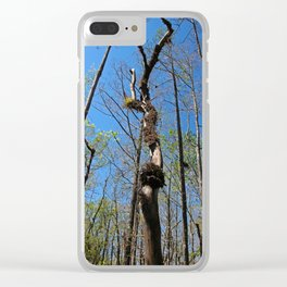 Time Hurries On (vertical) Clear iPhone Case