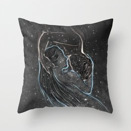 I met you everywhere. Throw Pillow