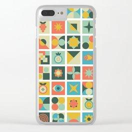Geometric pattern #2 Clear iPhone Case