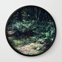 Undergrowth - Olympic National Park II Wall Clock