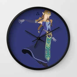 Princess Zelda(Smash)Blue Wall Clock