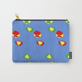 Red and green flowers Carry-All Pouch