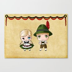 German Chibis Canvas Print