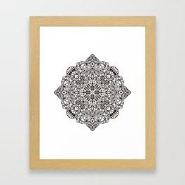 Healing Emotion Mandala Framed Art Print
