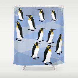 Emporior Penguins Of Antarctica, King Penguins Shower Curtain