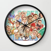 robin williams Wall Clocks featuring Robin Williams by Arashi.C