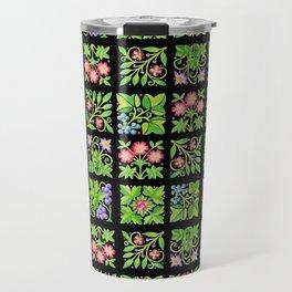 Tudor Flower Parterre Travel Mug