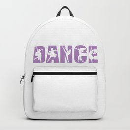 Dance in Light Purple with Dancer Cutouts Backpack