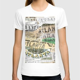 Atlanta map T-shirt