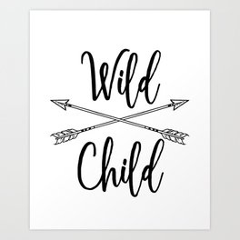 Wild Child Art Print