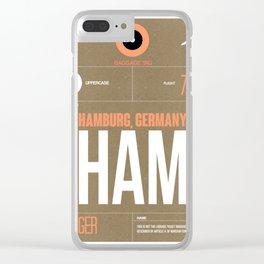 HAM Hamburg Luggage Tag 2 Clear iPhone Case