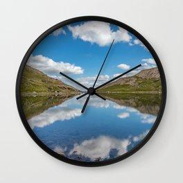 Blue Lake of Snowdonia Wall Clock