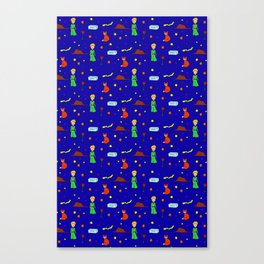 """The Little Prince"" Pattern Canvas Print"
