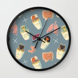 Canopic Jars Pattern Wall Clock