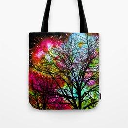 Rainbow Tree Tote Bag