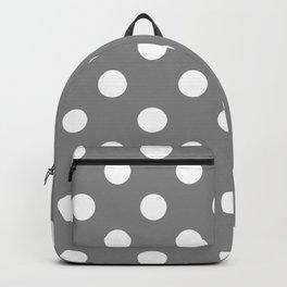 POLKA DOT DESIGN (WHITE-GREY) Backpack