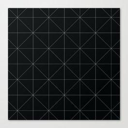 Geometric black and white Canvas Print
