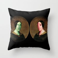 The Vitruvian Sisters (collage) Throw Pillow