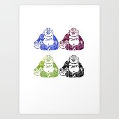 CMYK BUDDHA Art Print