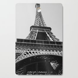 Eiffel Tower // Looking up at the World's Most Famous Monument in Paris France Classic Photograph Cutting Board