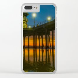 Root Beer Sunset Clear iPhone Case