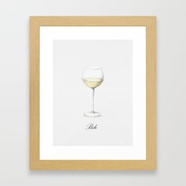 All We Need Is Wine Framed Art Print