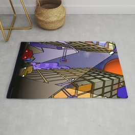 night in the city - abstract Rug
