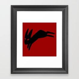 Black Rabbit Framed Art Print