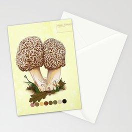 Morel Mushroom Detail 1 Stationery Cards