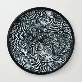 Liquid Skull Wall Clock
