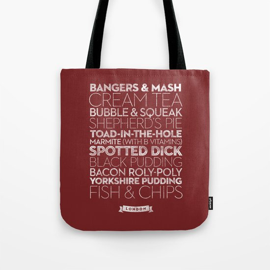 London — Delicious City Prints Tote Bag