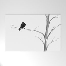 Raven in a Tree Welcome Mat
