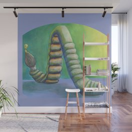 Inching into Creativity Vivid Worm of Creative Juice Wall Mural