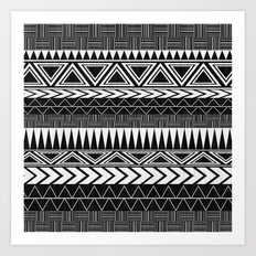 Tribal Monochrome. Art Print