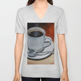 Hot Cup of Joe Unisex V-Neck