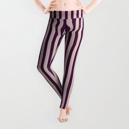 Purple-Red Lines Leggings
