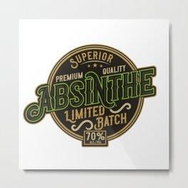 Absinthe - Green Fairy - 06 - bright Metal Print